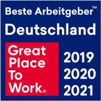 Auszeichnung Hiscox Great Place To Work 2021