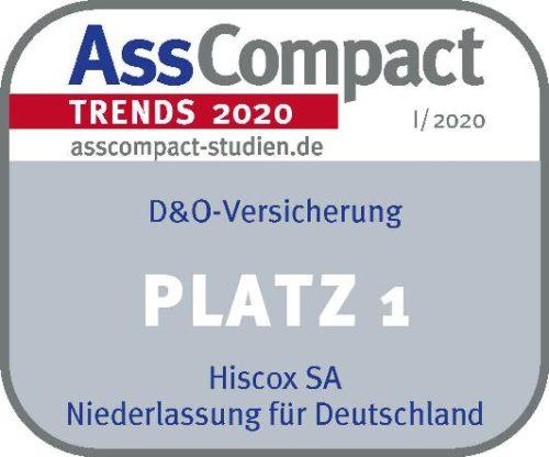 Ass Compact Siegel D&O Versicherung Gewinner Hiscox 2020
