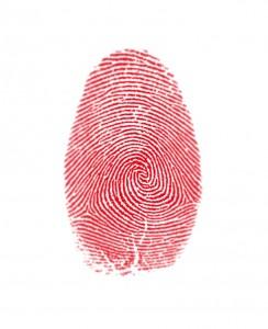 Fingerabdruck - Gefahr Identitätsdiebstahl
