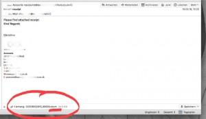 Locky in einer E-Mail als Anhang getarnt