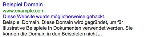 Warnung-Google-Website-gehackt