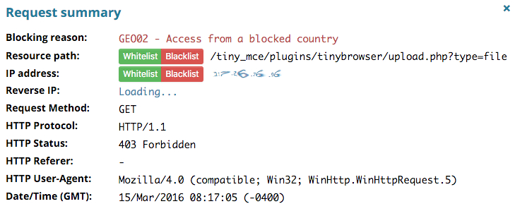 Wordpress-access-from-a-blocked-country