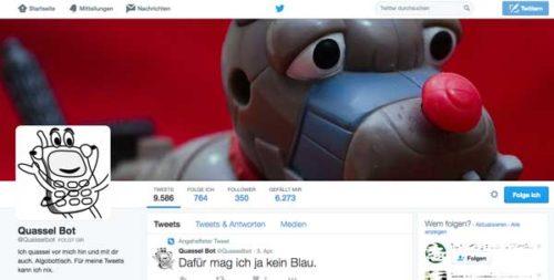 @quasselbot - einer der Bots auf Twitter