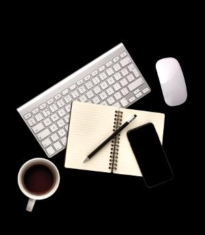 Utensilien eines Bloggers