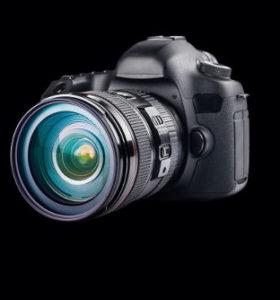 Professionelle Kamera mit großen Objektiv