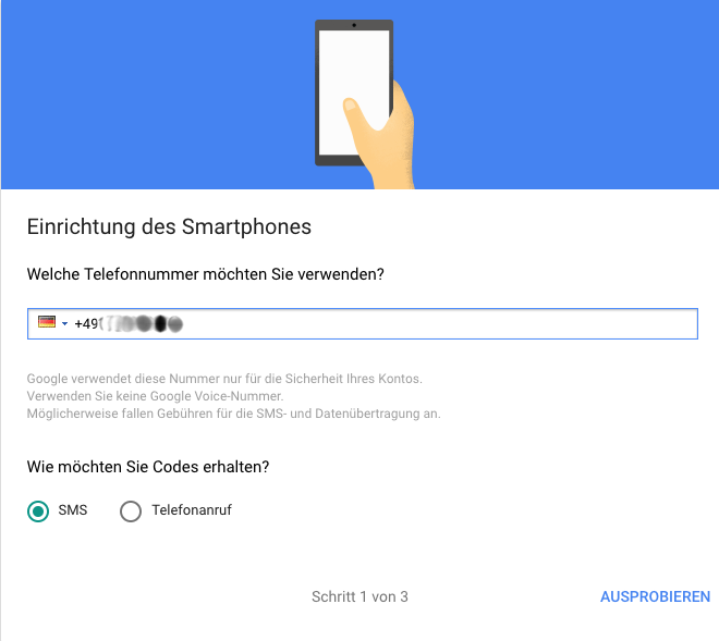 Google-2FA-Einrichtung