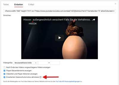 YouTube erweiterter Datenschutz