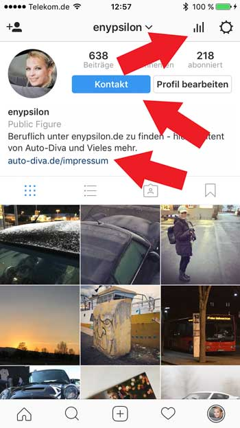 Instagram for Business Account enypsilon