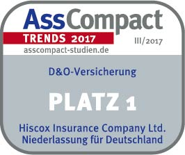 D&O-Versicherung Platz 1 für Hiscox in der AssCompact Trend 2017 Studie
