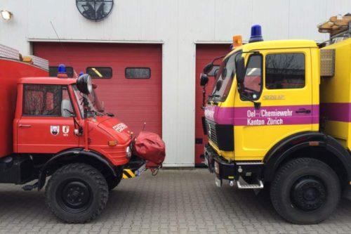 Schweizer Oldtimer-Feuerwehrautos