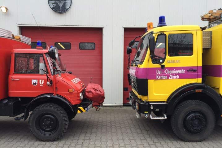 Oldtimer-Feuerwehrauto