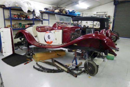 Vorbereitungen Mille Miglia 2017: OM in der Werkstatt