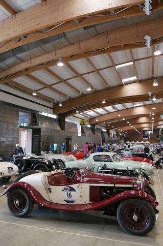 Mille Miglia: Fahrzeuge in der Messehalle