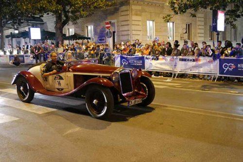 Mille Miglia: Zieleinfahrt in Rom
