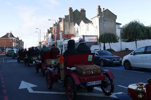 Veteran Car Run 2017: Fahrt nach Brighton