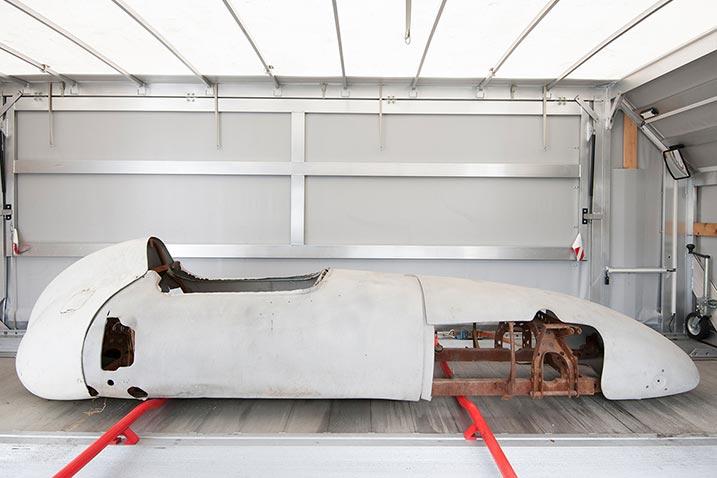 DKW-Oldtimer im Neuaufbau: Abholung der Karosserie