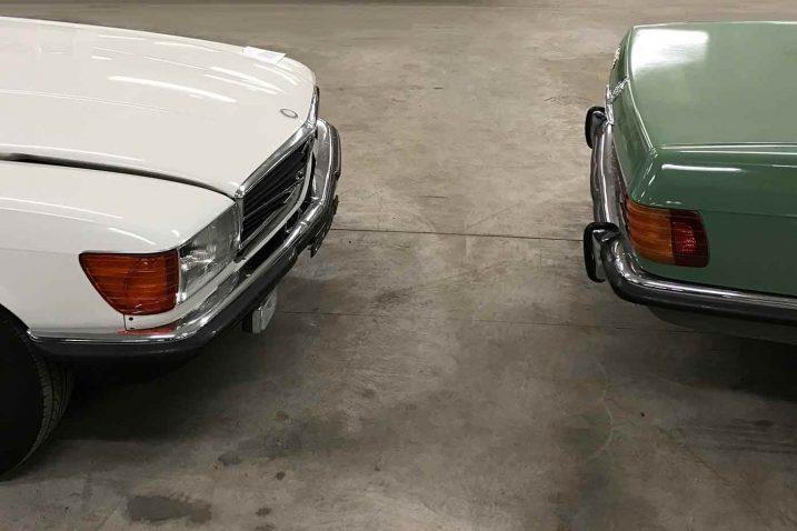 Oldtimer-Unfall mit zwei Mercedes SL: