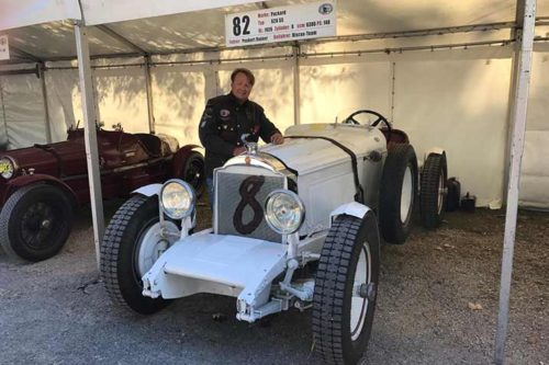 Roßfeldrennen Rückblick: Rainer Peukert mit seinem Packard