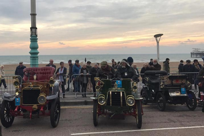 Veteran Car Run 2018: Ankunft der Fahrzeuge in Brighton