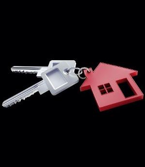 Schlüsselbund mit rotem Haus