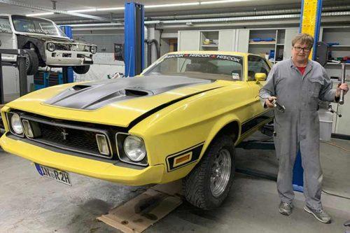 Erfolgreiche Oldtimer-Inbetriebnahme von Rainer Peukerts Mustang