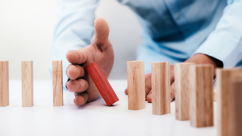 Dominoeffekt stoppen