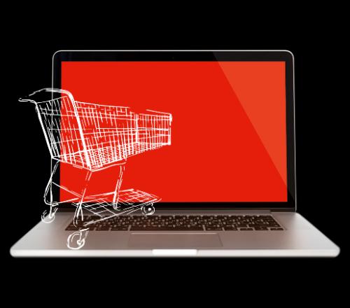 Einkaufswagen im Internet
