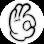 Ok-Zeichen Comic-Hand