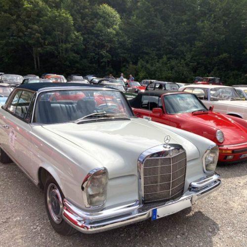 Oldtimer Mercedes auf München Classic Rallye